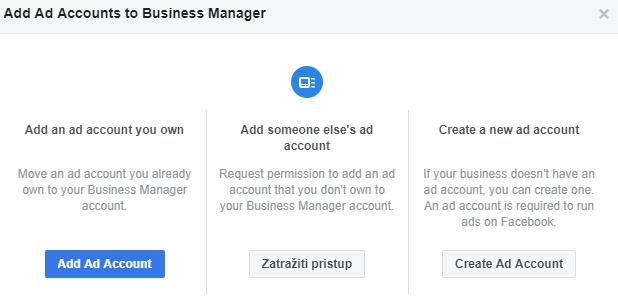 FBM_dodavanje Ad Accounta